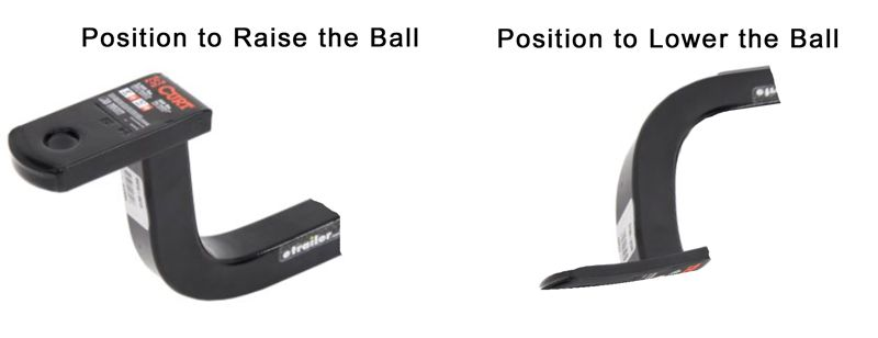 Hitch insert for raising or lowering a ball