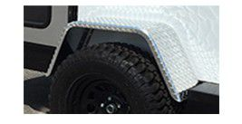 Diamond Plate Jeep Fender