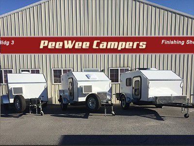 Photo of Campers Outside of PeeWee Camper's Shop
