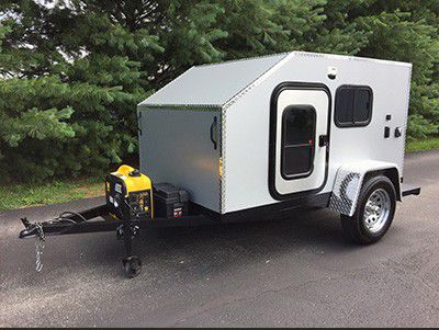 Photo of Silver Teardrop Camper with Generator